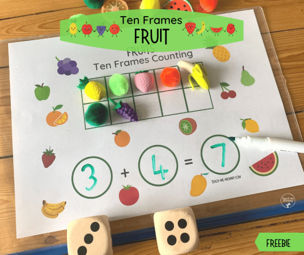 Fruit Ten Frames Counting fb
