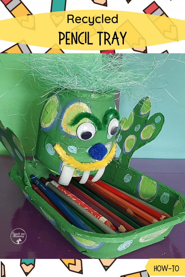 Recycled pencil tray