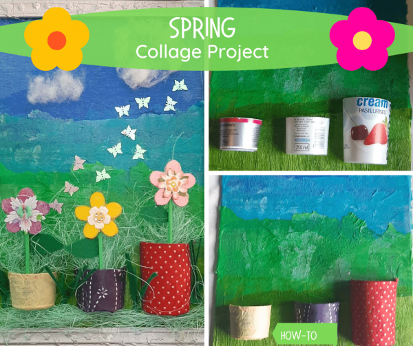 Spring picture collage fb