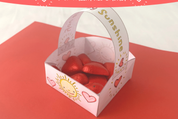 Mini Valentines Basket