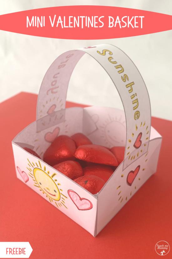 Mini Valentines basket pin