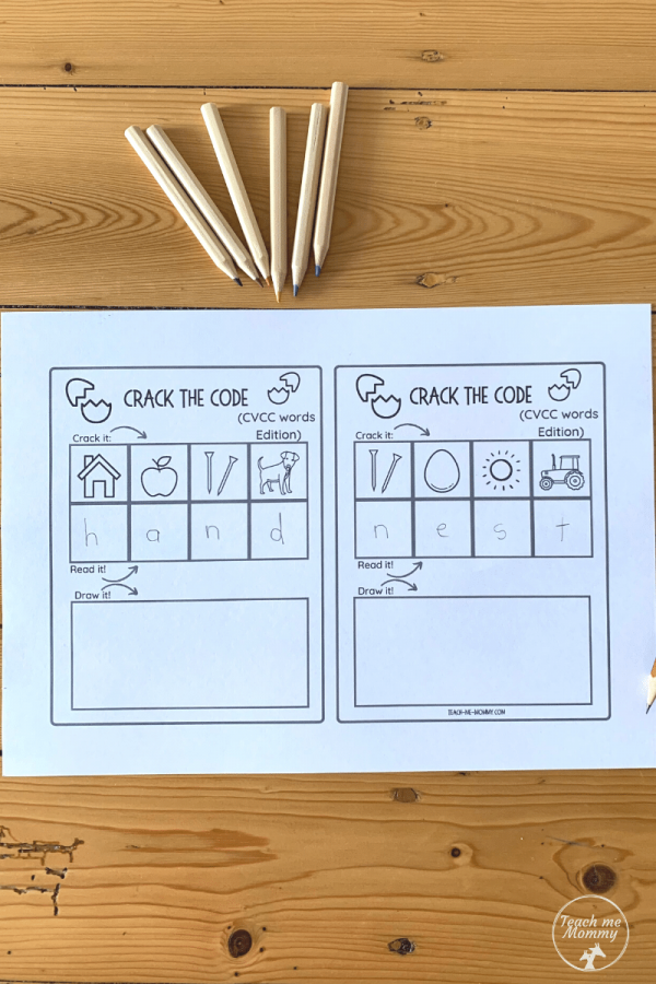 Crack the code printables