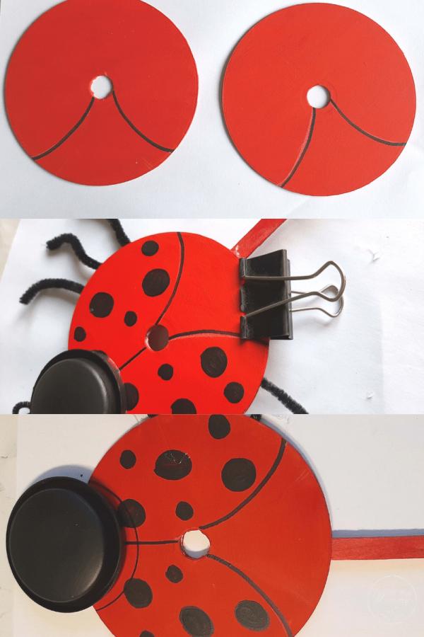 ladybug recycle craft