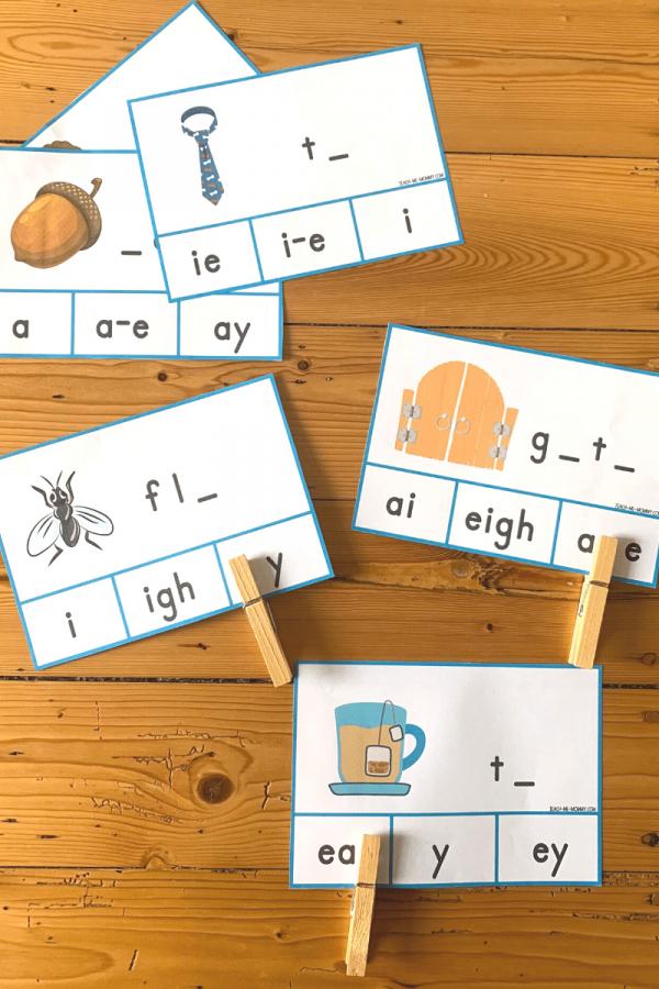Long vowel choice cards