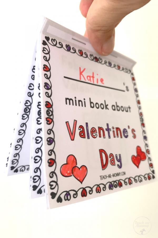 Valentine's Day book assembled