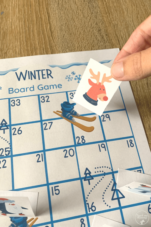 Winter board game for kids