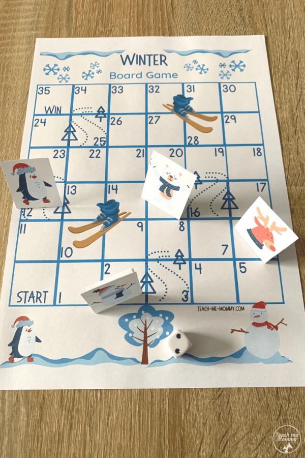 Winter printable game