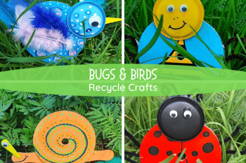 Bugs and Birds Recycle Crafts