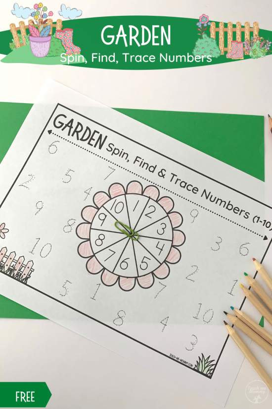 Garden Spin Trace Numbers pin