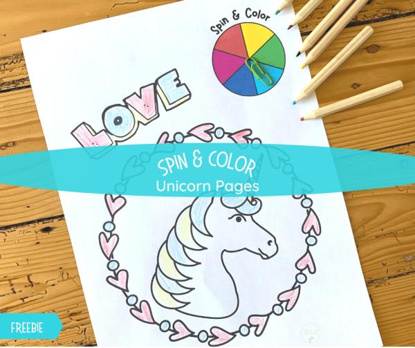 Spin & Color Unicorn activity fb