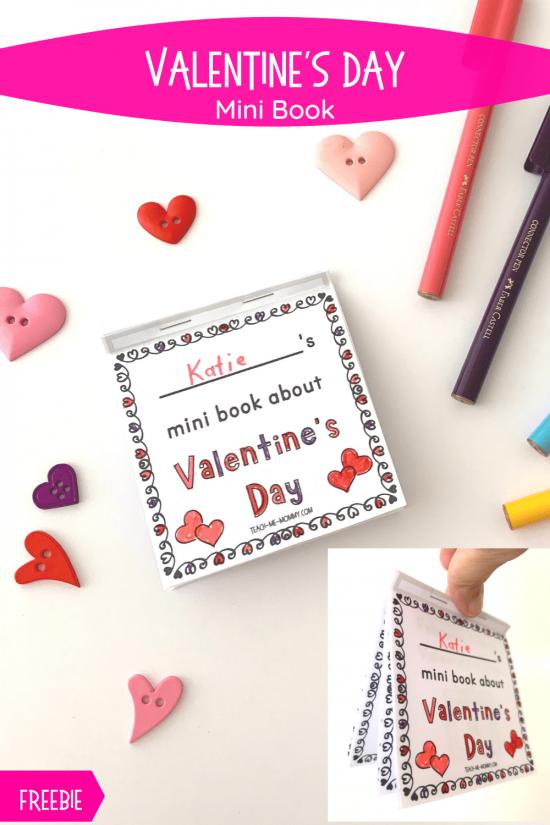 Valentine's Day mini book pin