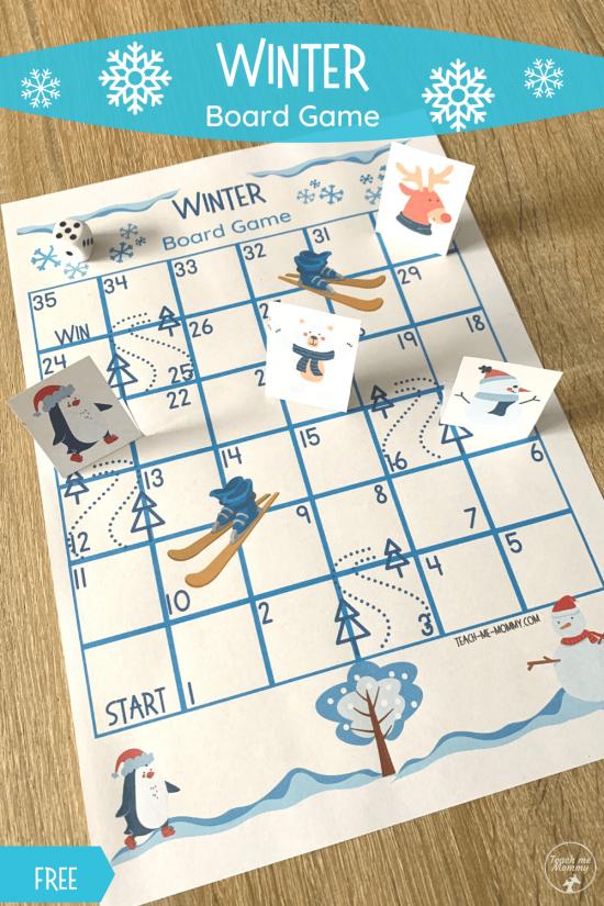 Winter Board Game pin