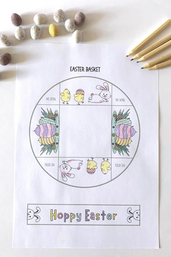 Printable mini baskets
