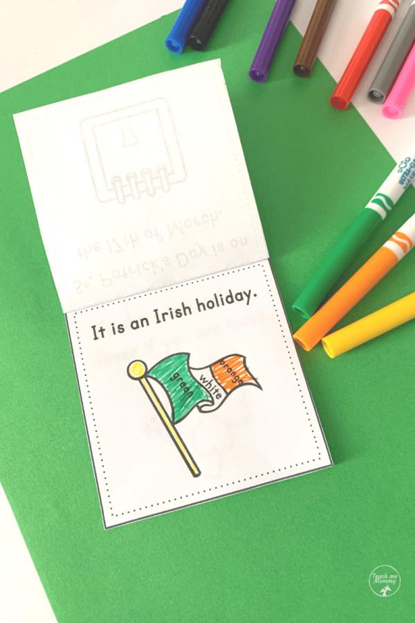 St. Patrick's Day mini book