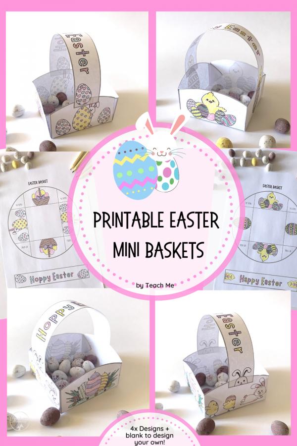 Printable Easter baskets pin