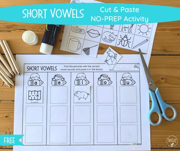 Short Vowels activity fb