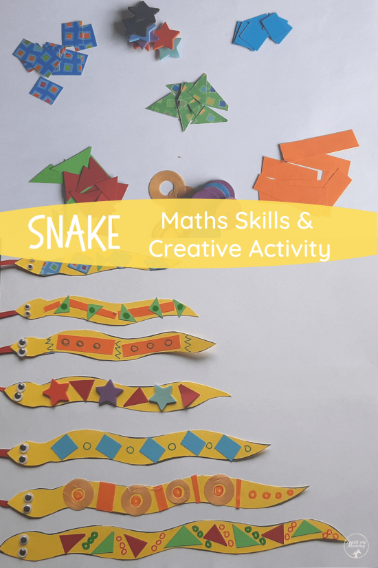 Snake maths skills pin