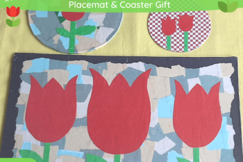 Tulip Placemat & Coaster Gift