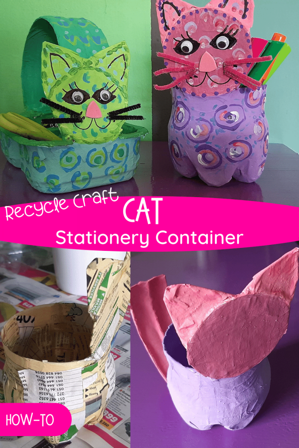 Cat stationery containers