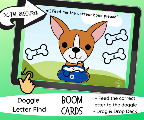 Feed the Doggie Letter Bones fb