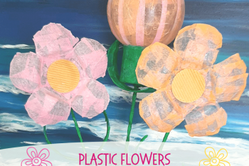 Plastic Flowers Recycle Craft
