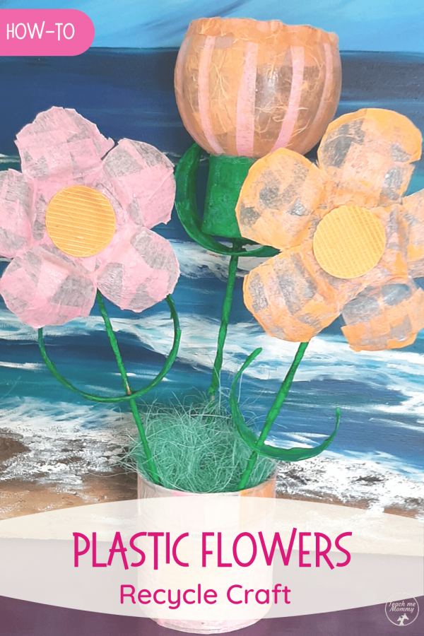 Plastic Flowers Recycle Craft pin