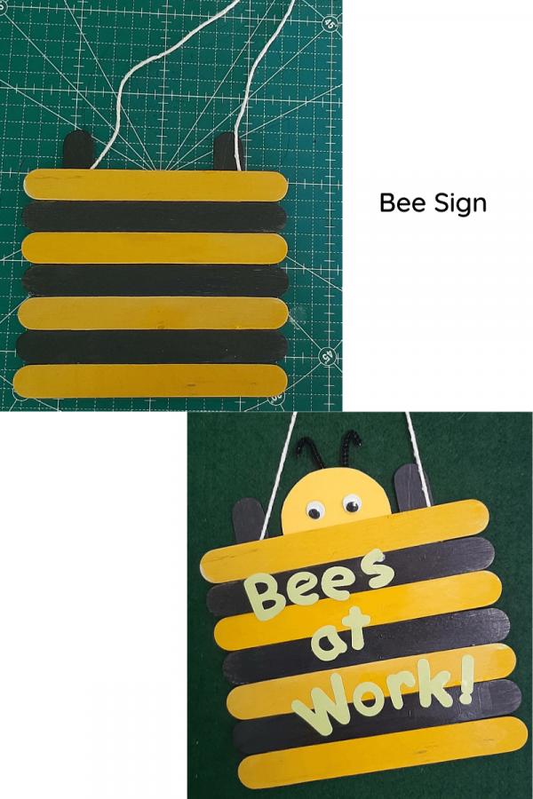 Bee door sign craft