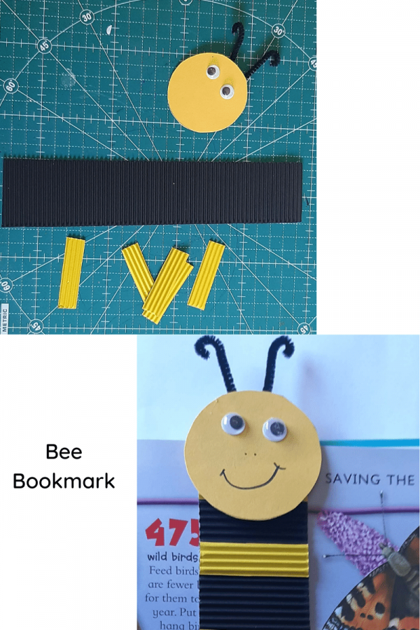 Bee bookmark craft