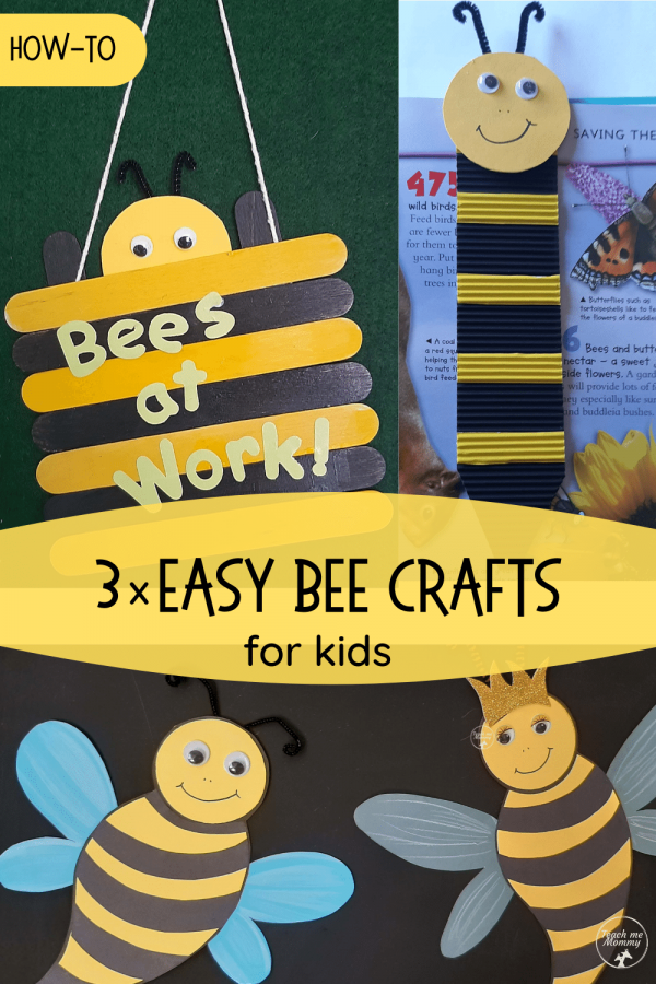 Easy bee crafts pin