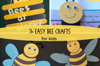 3 Easy Bee Crafts