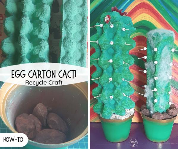Egg carton Cacti craft fb