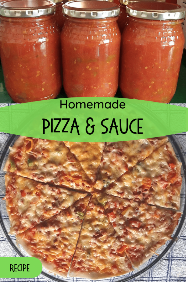 Homemade Pizza and sauce pin