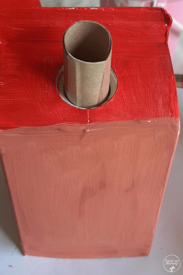 Milk carton houses chimney