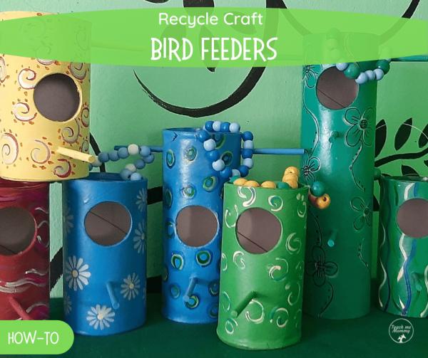 Recycled birdfeeders fb