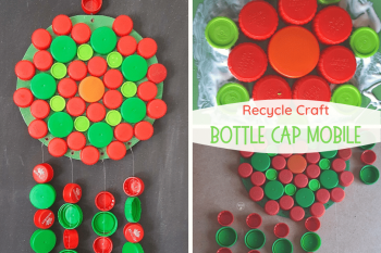Bottle Cap Mobile Recycle Craft