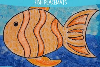 Glittery Fish Placemats