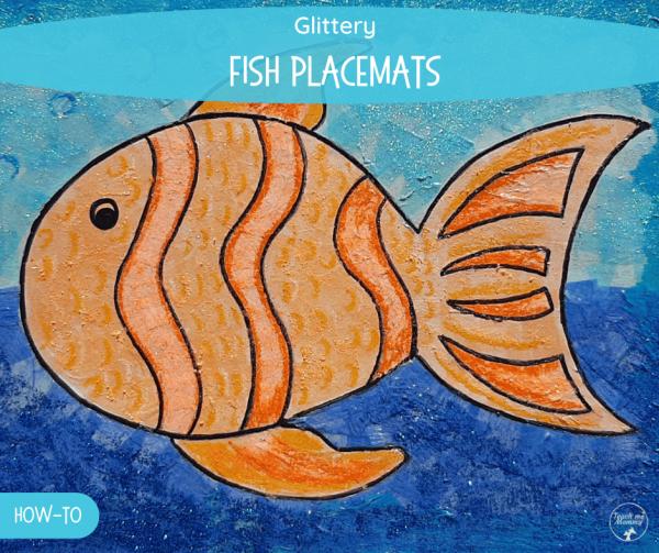Glittery fish placemast fb
