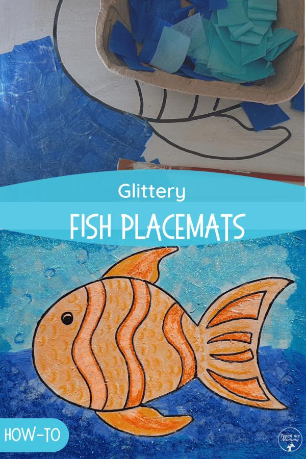 Glittery Fish placemats PIN