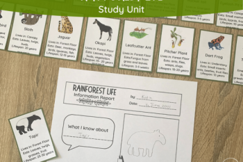 Rainforest Life Study Unit