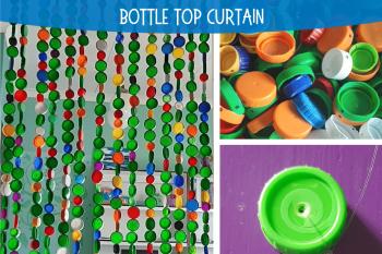Bottle Cap Curtain
