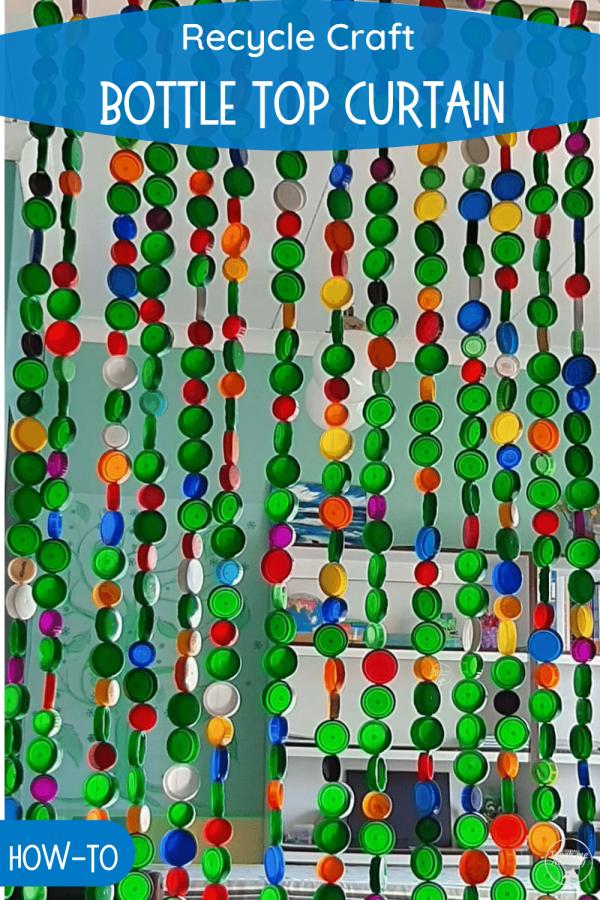 Bottle cap curtain PIN