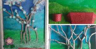Winter Tree Craft Project