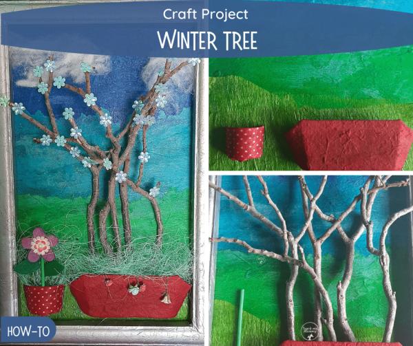 Winter tree craft project fb