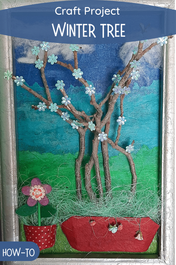 Winter tree craft project PIN