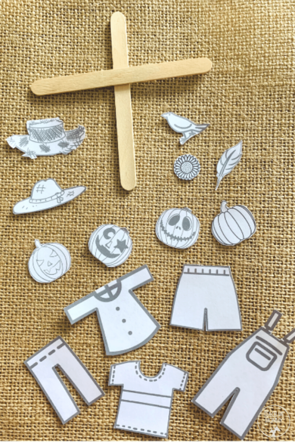 Scarecrow puppet templates