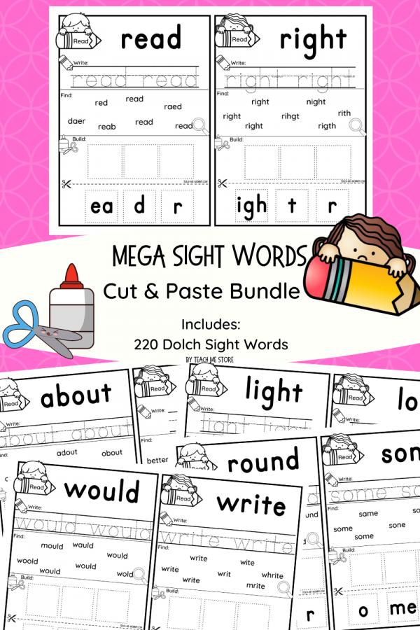 Mega sight word packs