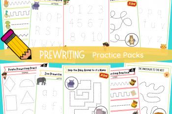 Prewriting Practice Packs