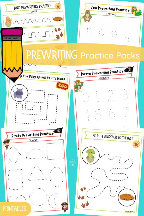 Prewriting Practice Packs PIN