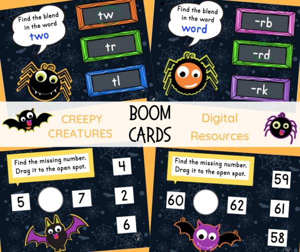 Creepy Creatures digital resources  FB