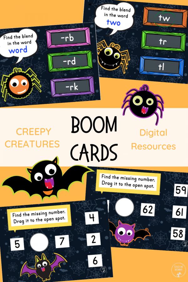 Creepy Creatures digital resources pin